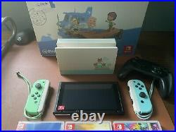 ACNH Switch Console + Games, 128 SD Card, Pro Controller, Case, Screen Protector