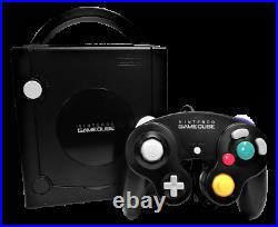 Black Nintendo Gamecube Console + Controller, Memory Card and Cables PAL