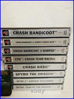 CRASH BANDICOOT 1 2 3 CTR BASH SPYRO 1 2 3 & Ps1 Slim, Controller Memory Card