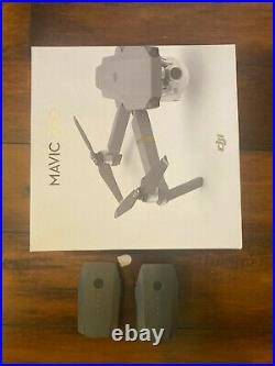 DJI Mavic Pro with Remote Controller, extra batteries, charger, and memory card