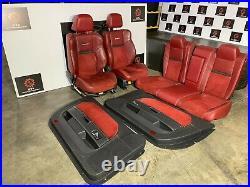 Dodge Challenger Srt-8 6.4l 2008-2014 Oem Red Interior Door Panels Seat Seats
