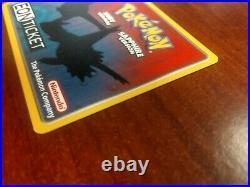 Eon Ticket 2003 Pokemon Card S. S. Tidal Ruby & Sapphire with Nintendo E-Reader