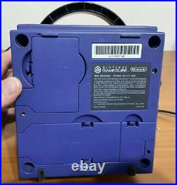 Indigo Nintendo Gamecube Console System With Controller Cords and Memory Card