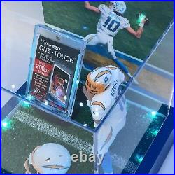 Justin Herbert 1/1 Display Case with multi color control. Witho PSA 10 card