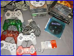 Lot of 41 Playstation1 PS1 games, controllers & Memory Cards