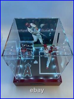 Mike Trout 1/1 Display Case with multi color controller. Witho PSA 10 card