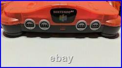N64 Daiei Hawks Clear Orange & Black Japanese. 2 Controllers & Memory Card