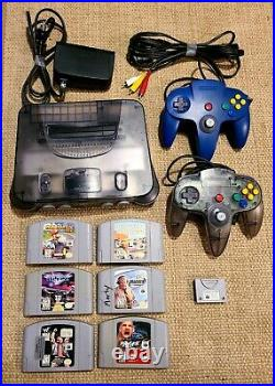 N64 Nintendo 64 Console + 2 Controllers + 6 Games + Controller Card Mint