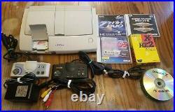 NEC PC Engine Duo R Everdrive Arcade card 2 Original controllers Games