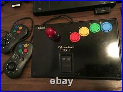 NEO GEO AES Unibios bundle with 3 games 3 controllers memory card SCART cable
