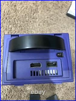 NINTENDO GameCube Indigo Purple Console System With2 Memory Card, With2 controllers