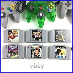 Nintendo 64 Console, 4 Controllers, 6 Games, 2 Tremor Packs, Memory Cards