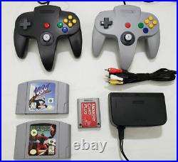 Nintendo 64 Console System N64 AUTHENTIC Games Star Fox Memory Card 2 Controller