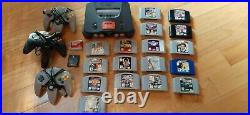 Nintendo 64 Game Console Expansion Pack 3 controllers, 17 games, 2 mem cards