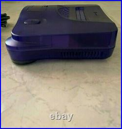Nintendo 64 Grape Purple Console with Controller, Cables and Memory Card