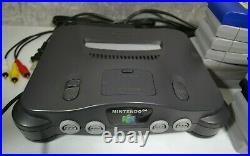 Nintendo 64 Gray Console Bundle with 2 OEM Controllers, 13 Games & Memory Cards