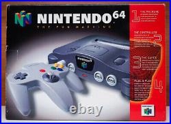 Nintendo 64 Launch Edition with Black Controller & Memory Card With Boxes