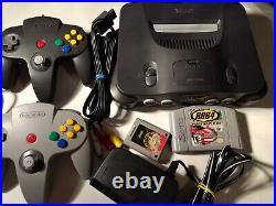 Nintendo 64 N64 Console Bundle 1 game 2 Controllers All Cords. Memory Card