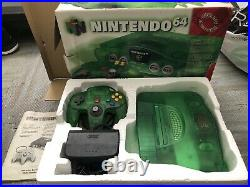 Nintendo 64 N64 Green Console Complete with Expansion, Memory Card, VG Controller