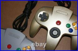 Nintendo 64 N64 System Console Game Bundle Lot 8 Games, 2 controllers & Mem card