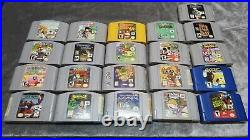 Nintendo 64 console, controllers, memory cards, 21 games