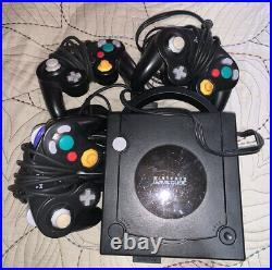 Nintendo GameCube Black Used, With 3 Controllers, & Memory Card, With All Cords