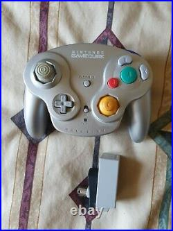 Nintendo GameCube Bundle Console TESTED 4 CONTROLLERS, 3 MEMORY CARDS, ORGANIZER