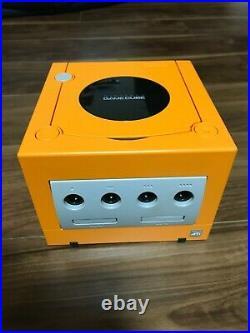 Nintendo GameCube Console Controller Memory Card Set Orange Japan Import