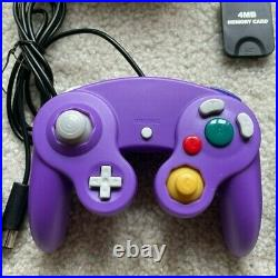 Nintendo GameCube Console DOl-001 w Three Controllers Cables Memory Card Bundle