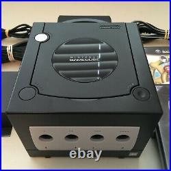 Nintendo GameCube DOL-001 Black Near Mint + Carby HDMI, OEM controller, mem card