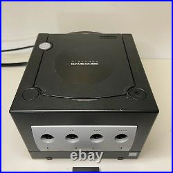 Nintendo GameCube DOL-101 Console 2 Controllers Memory Card Bundle Black Tested