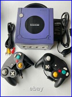Nintendo GameCube INDIGO PURPLE Console + 2 Controllers + Memory Card Bundle