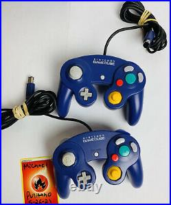 Nintendo GameCube Indigo Lot Console 14 Games 2 Indigo Controllers & Memory Card