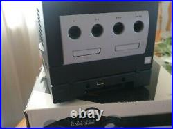 Nintendo GameCube Jet Black Gameboy Player Console Box 3 Controllers Memory Card