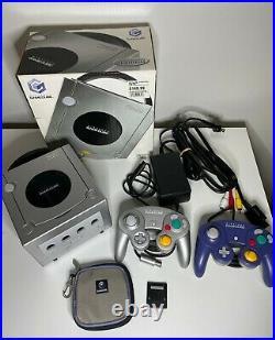 Nintendo GameCube Ltd Platinum Console withBox 2 Controllers Memory Card Disc Case