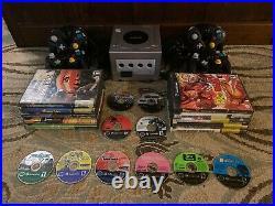 Nintendo GameCube Platinum Console 20 games 4 controllers memory card