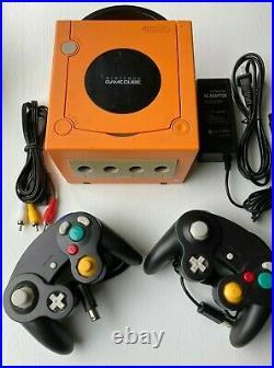 Nintendo GameCube SPICE ORANGE Console + 2 Controllers + Memory Card Bundle