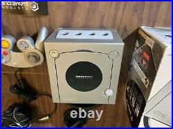 Nintendo GameCube Silver System Bundle + Controller + Memory Card + Box +Inserts