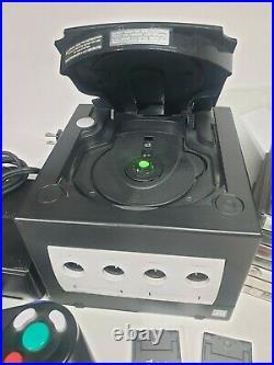 Nintendo Gamecube Black Console Bundle 10Games 1Controller 2 Mem Cards DOL-001