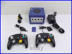 Nintendo Gamecube Console + 2x Controllers + AV Cable + Power Cable + Card