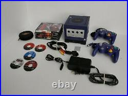 Nintendo Gamecube Gameboy Bundle Cables 2 controllers, 8 games and memory card