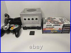 Nintendo Gamecube Platinum DOL-101withGameboy Player, Controller/Memory Card/Games