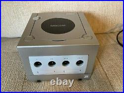 Nintendo Gamecube Platinum with BOX Controller Cables Memory Card Game MINT TESTED