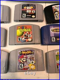 Nintendo N64 Console 3 Controllers Memory Card RumblePak & Games in Storage Case