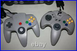 Nintendo N64 Game Console Lot Complete with 2 controllers, 2 games, mem card! MK
