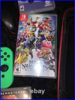 Nintendo Switch 32GB bundle 5 Games 3 Controllers 128GB SD Card- Zelda