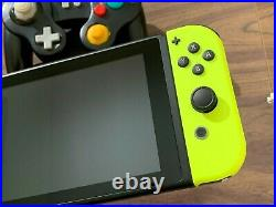 Nintendo Switch Console (Neon Yellow Joy-Cons) +Wired Controller+ 128 GB SD Card