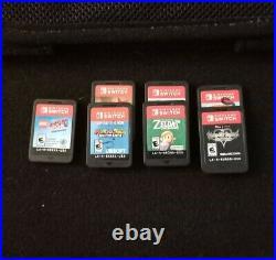 Nintendo Switch Mario Edition 32GB With 7 Games, Case, Controller & SD Card