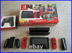 Nintendo Switch Mario Odyssey Edition 12 Games 64GB memory card Pro controller