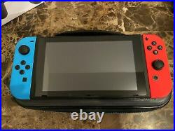 Nintendo Switch Neon Red & Blue 32GB with 200GB SD Card, Pro Controller & Case